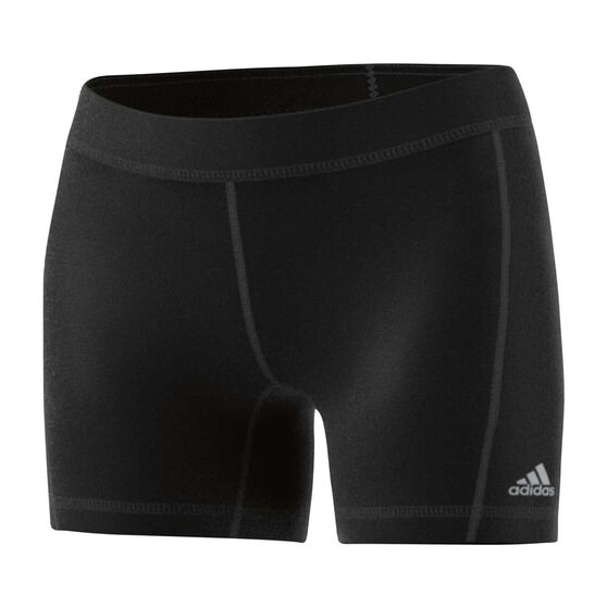 adidas Womens TechFit 5in  Shorts, Black / Silver, rebel_hi-res
