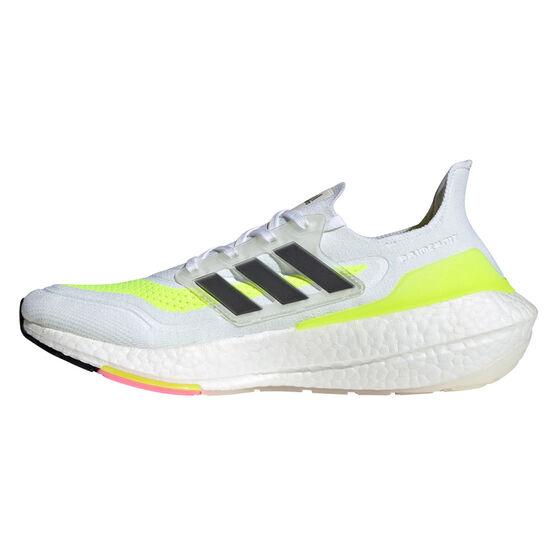 adidas Ultraboost 21 Mens Running Shoes, White/Black, rebel_hi-res