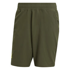 addias Mens Tennis 9-Inch Shorts Khaki S, Khaki, rebel_hi-res