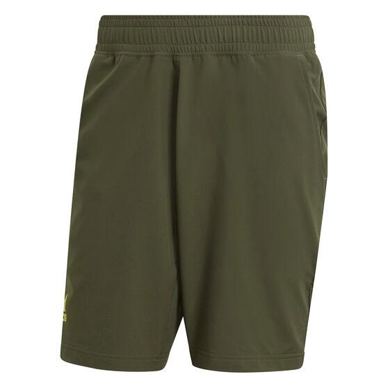 addias Mens Tennis 9-Inch Shorts, Khaki, rebel_hi-res