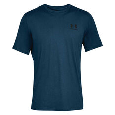 Under Armour Mens Sportstyle Tee Navy / Black XS, Navy / Black, rebel_hi-res