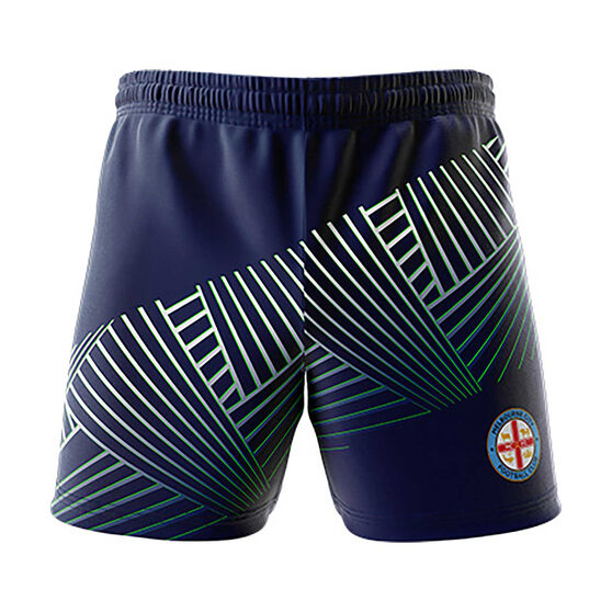 Melbourne City 2018/19 Mens  Geo Squad Training Shorts Navy XL, Navy, rebel_hi-res