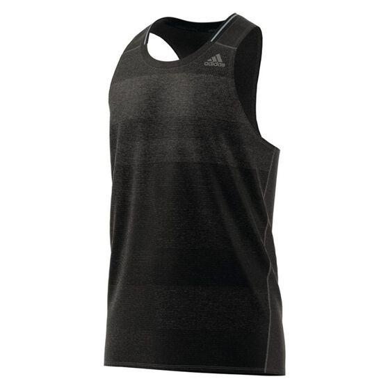adidas Mens Supernova Running Singlet Black S, Black, rebel_hi-res