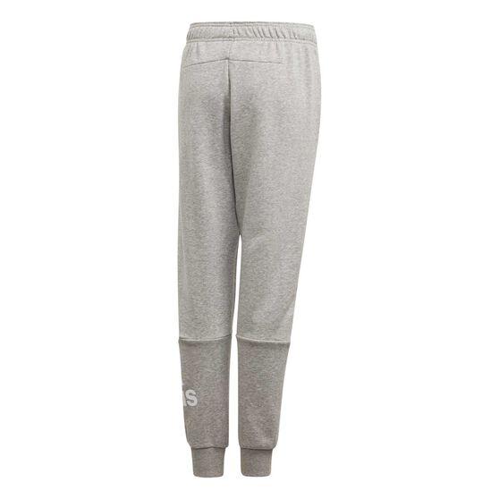 adidas Boys Tapered Pants, Grey / White, rebel_hi-res