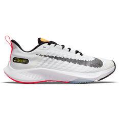 Nike Air Zoom Speed 2 Kids Running Shoes White/Black US 4, White/Black, rebel_hi-res