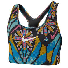 Nike Womens Medium Support Sports Bra Print XS, Print, rebel_hi-res