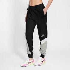 Nike Womens Sportswear Heritage Track Pants Black XS, Black, rebel_hi-res