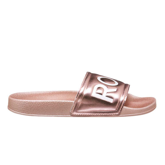 Roxy Kids Slippy Slides, Pink, rebel_hi-res