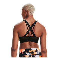 Under Armour Womens Project Rock X-Back Mid Sports Bra, Black, rebel_hi-res