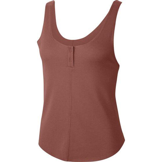 Nike Womens Henley Yoga Luxe Tank, Brown, rebel_hi-res