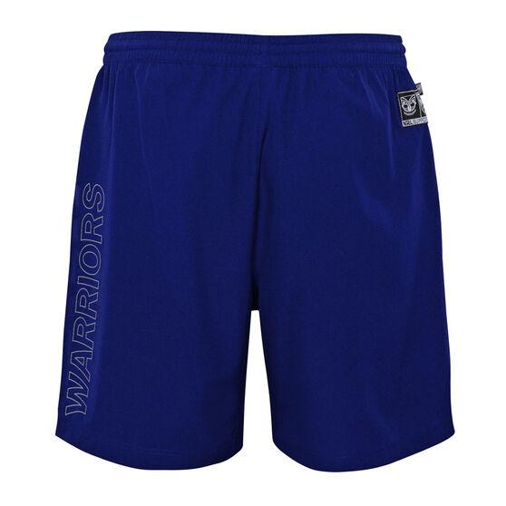 Warriors 2021 Mens Sports Shorts Blue L, Blue, rebel_hi-res