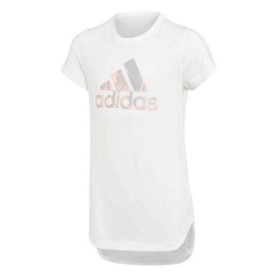 adidas Girls Glam On Long Tee, , rebel_hi-res
