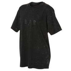 Running Bare Womens Hollywood 90s Relax Tee, Black, rebel_hi-res