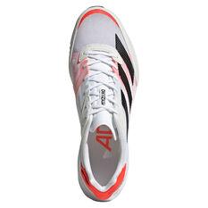 adidas Adizero Adios 6 Mens Running Shoes, White/Black, rebel_hi-res