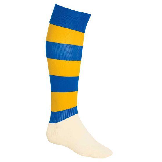 Burley  Football Socks, Royal  /  gold, rebel_hi-res