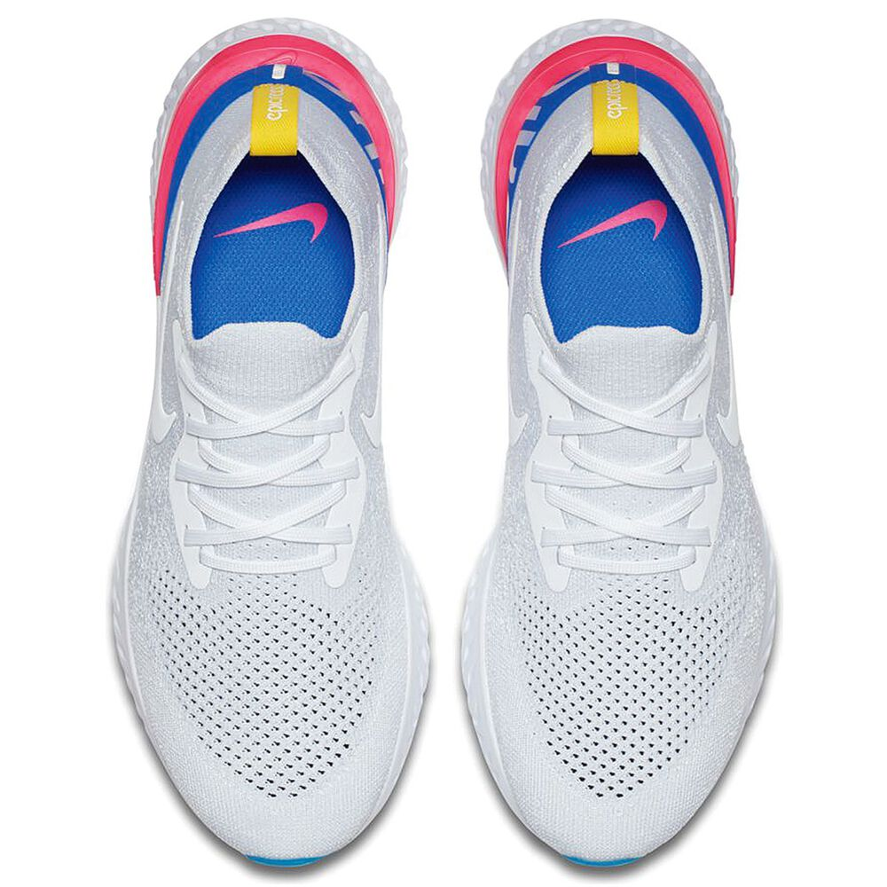 4c47aeb406a45 Nike Epic React Flyknit Mens Running Shoes White   Blue US 10 ...