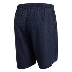 adidas Mens Saturday Running Shorts Navy S, Navy, rebel_hi-res