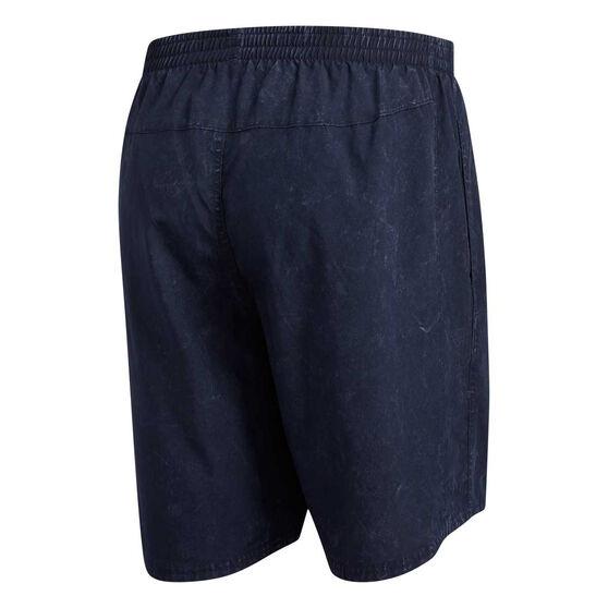adidas Mens Saturday Running Shorts, Navy, rebel_hi-res
