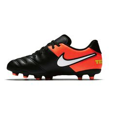 Nike Tiempo Rio III Junior Football Boots Black / White US 1 Junior, Black / White, rebel_hi-res