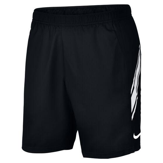 NikeCourt Mens Dri FIT 9in Tennis Shorts, Black, rebel_hi-res