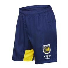 Central Coast Mariners 2018 / 19 Mens Training Shorts Navy / Yellow S, Navy / Yellow, rebel_hi-res