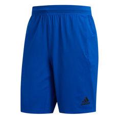 adidas Mens 4KRFT Ultimate 9in Shorts Blue XS, Blue, rebel_hi-res