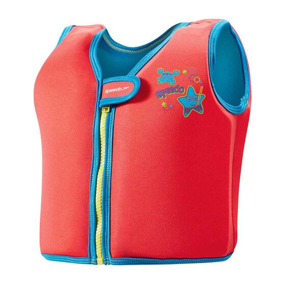 Speedo Sea Squad Swim Vest, Red, rebel_hi-res