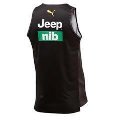 Richmond Tigers 2020 Mens Training Singlet Black S, Black, rebel_hi-res