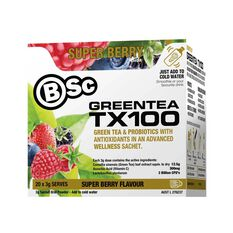 BodyScience  Super Berry Green Tea TX100, , rebel_hi-res