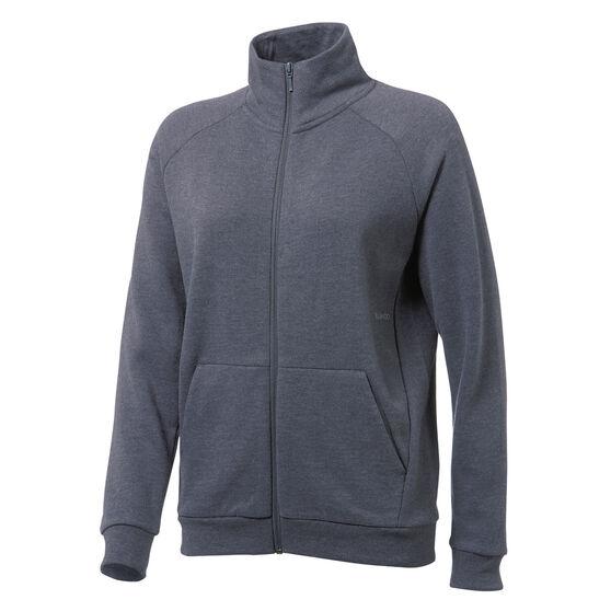 Ell & Voo Womens Lyla Full Zip Fleece Crew Sweatshirt, Grey, rebel_hi-res