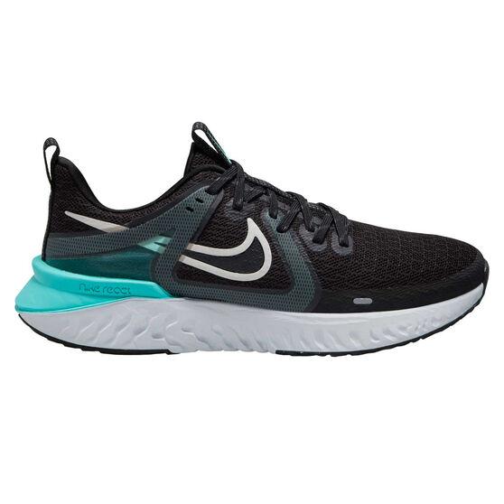 Nike Legend React 2 Womens Running Shoes, Black/Platinum, rebel_hi-res