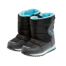 SVNT5 Toddlers Pace Boots Black / Aqua US 9, Black / Aqua, rebel_hi-res