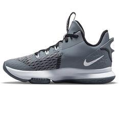 Nike LeBron Witness 5 Basketball Shoes Grey US 7, Grey, rebel_hi-res