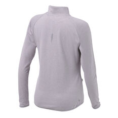 Ell & Voo Womens Hayley 1/4 Zip Brushed Fleece Top Grey XXS, Grey, rebel_hi-res