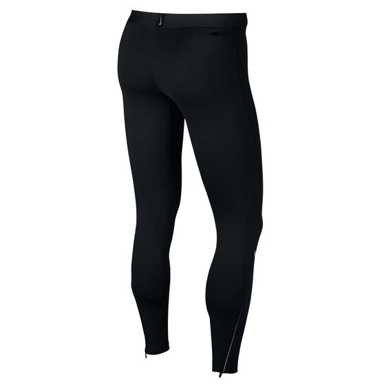 Nike Mens Power Tech Running Tights Black M, Black, rebel_hi-res