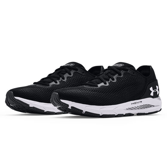 Under Armour HOVR Sonic 4 Mens Running Shoes, Black/White, rebel_hi-res