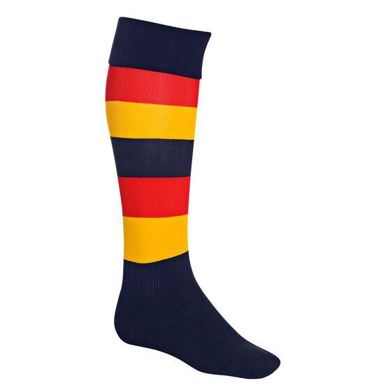 Burley Adelaide Football Socks, , rebel_hi-res