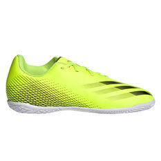 adidas X Ghosted .4 Kids Indoor Soccer Shoes Yellow US 13, Yellow, rebel_hi-res