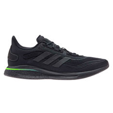 adidas Supernova Mens Running Shoes Black/Green US 7, Black/Green, rebel_hi-res