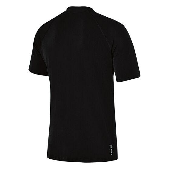 Speedo Mens Relaxed Rash Vest, Black, rebel_hi-res