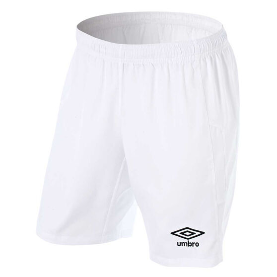 Umbro Kids Junior League Knit Shorts, White, rebel_hi-res
