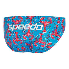 Speedo Mens Escape Mr. Muscles 5cm Swim Briefs Blue 10, Blue, rebel_hi-res