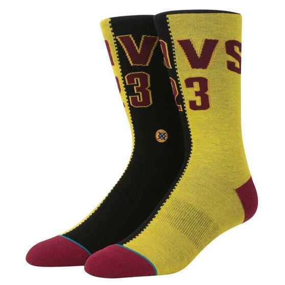 Stance Mens Cleveland Cavaliers LeBron James Split Jersey Sock M, , rebel_hi-res