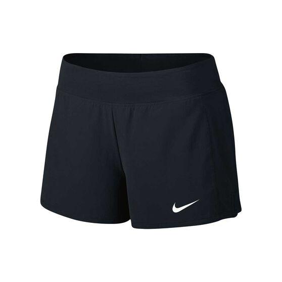 2e402a4f35c7b NikeCourt Womens Flex Pure Tennis Shorts Black   White XS
