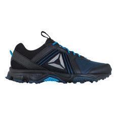Reebok Trail Voyager 3.0 Womens Trail Running Shoes Black / Blue US 6, Black / Blue, rebel_hi-res