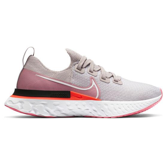 Nike React Infinity Run Flyknit Womens Running Shoes, Purple/White, rebel_hi-res