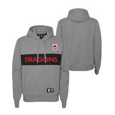 St George Illawarra Dragons 2021 Kids Hoodie, Grey, rebel_hi-res