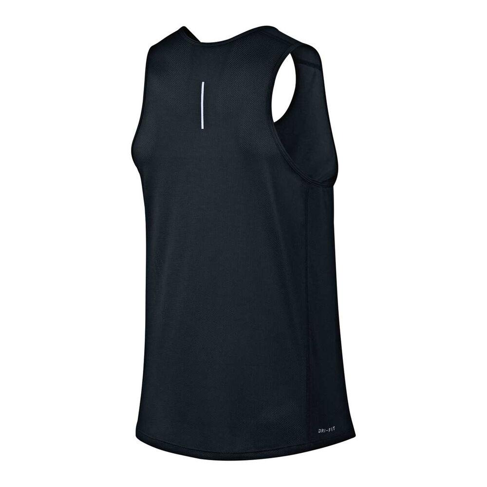 6d95c920461b6 Nike Mens Dry Miler Running Tank Black   Silver S