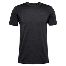 Under Armour Mens Rush Seamless Fitted Tee Black S, Black, rebel_hi-res
