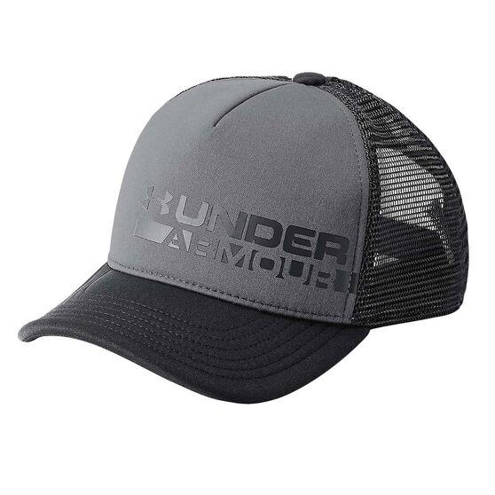 Under Armour Boys Novelty Trucker Cap Grey   Black OSFA  c49164f1f7bd